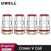 4 قطعة/الوحدة Uwell تاج 5 لفائف تاج V لفائف UN2 مزجها 0.23ohm UN2 2 0.3ohm UN2 3 0.2ohm المرذاذ للبريد سيج تاج V خزان Vape
