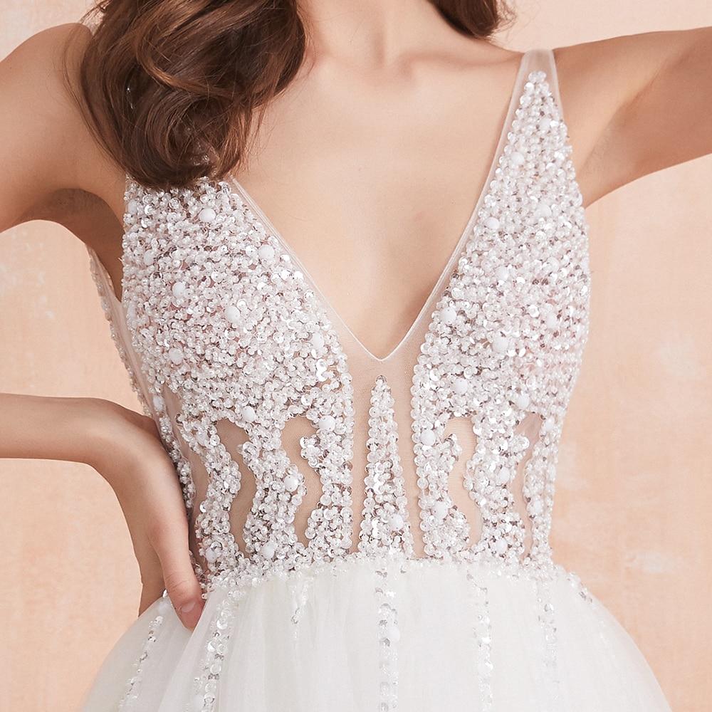 White Ivory Sexy  Bridal Gown Vestido De Noiva 6