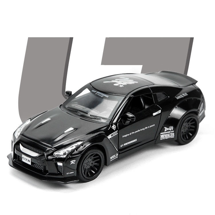 High Simulation Exquisite Diecasts & Toy Vehicles: MINIAUTO Car Styling The War God R35 Sports Car 1:32 Alloy Diecast Model Car