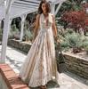 Summer New Fashion FanSexy Halter Lace Mesh Maxi Dress  Women Boho Long Maxi Dress  White Wedding Clothes  FZ003 1