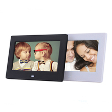 7 inch Digital Photo Album Frame Wall Hanging HD Thin Picture Player Video Music Clock Desktop Advertisement LED Display