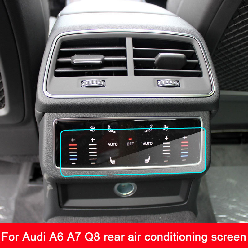 screen protector for <font><b>2019</b></font> <font><b>Audi</b></font> <font><b>A6</b></font> A7 Q8 rear air conditioning screen,9H hardness tempered glass screen protective film image