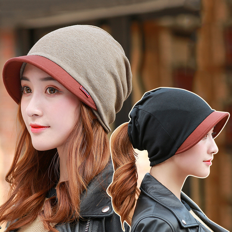 Women Cotton Head Cap Ladies Fashion Outdoor Windproof Warm Thicken Hats Simple Solid Color Hat For Female New Autumn Winter Hat