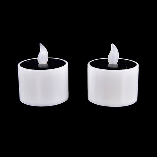 Plastic Solar Energy Candle Yellow Solar Power LED Candles/Flameless Electronic Solar LED Tea Lights Lamp For Outdoor