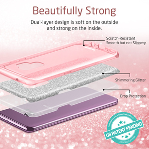 Image 3 - ESR Case for Samsung Galaxy S9 Cover Makeup Series Back Cover Shinning Protective Bling Glitter 3 Layer Case for Samsung S9 Plus