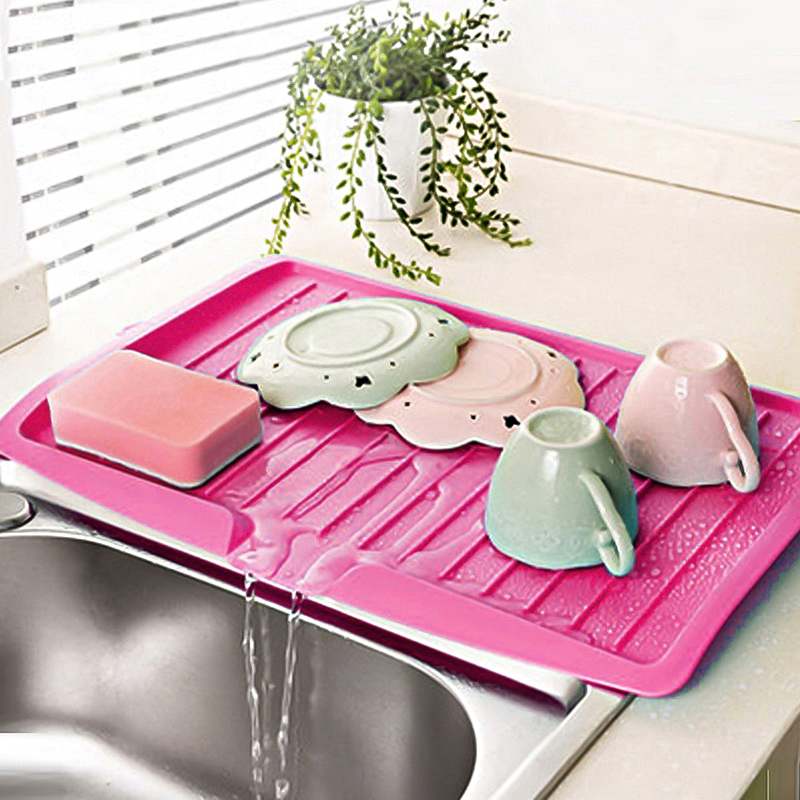 Drain Rack Kitchen Plastic Dish Drainer Tray Large Sink Drying Rack Worktop Organizer drying rack for dishes  Newest