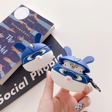 For AirPod 2 Case 3D Blue Rabbit Cartoon Soft Silicone Wireless Earphone Cases Apple Airpods Cute Cover Funda