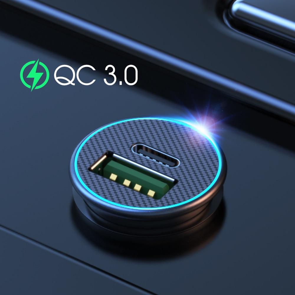 Автомобильное зарядное устройство с USB-портом, 30 Вт, 4,0, 3,0