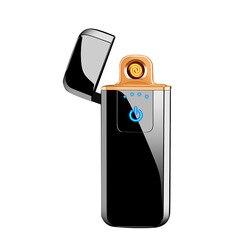 Cảm Ứng Đôi Hồ Quang Bật Lửa Điện Tử Sạc USB Hút Thuốc Lá Bật Lửa Điện Chống Gió Kim Loại Plasma Lửa