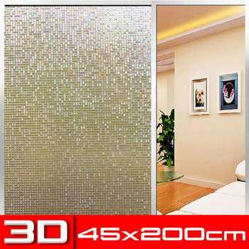 45X200cm nieprzylepny statyczny 3D nieregularny wzór kolorowe dekoracyjne prywatność ochrona przed słońcem okno tęczowe folie szklany kij tanie i dobre opinie Statyczne czepiać Other Folie metalizowane