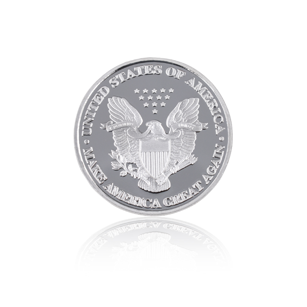 Grosir Hot Sale Donald Trump Koin Perak Koleksi Koin Logam Amerika - Dekorasi rumah - Foto 6