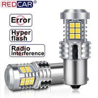 Bombilla Led Canbus para coche, sin Error, 1156 BA15S P21W, BAU15S PY21W, luz de intermitente trasero, ámbar, rojo y blanco, 2 uds.