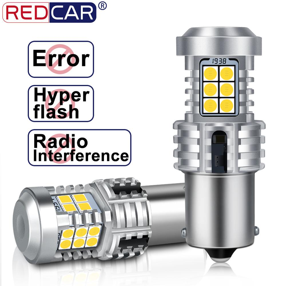 2pcs Canbus Error Free 1156 BA15S <font><b>P21W</b></font> <font><b>Led</b></font> <font><b>Bulb</b></font> BAU15S PY21W Auto Lamp No Hyperflash Car Rear Turn Signal Light Amber Red White image