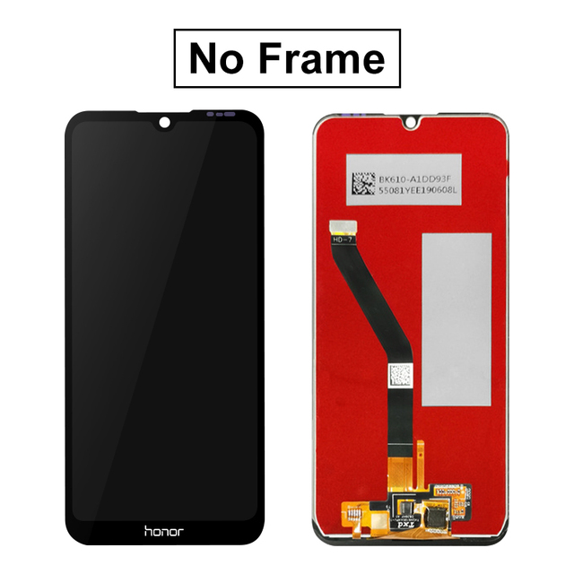 6.09'' Display For Huawei Honor 8A LCD Display Touch Screen Digitizer Assembly Parts With Frame For 8A Pro JAT-L29 LCD Screen
