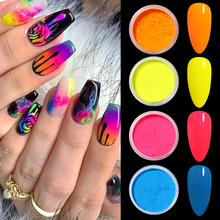 Eyeshadow Pigment Neon-Nail-Powder Chrome Dust-Decoration Shimmer Make-Up 12-Boxes Shining