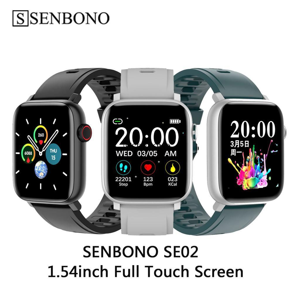SENBONO 2020 SE02 Men Women Smart Watch Heart Rate Blood Pressure Sport Tracker Fitness Smartwatch For Apple IOS Android Iwo 8 9