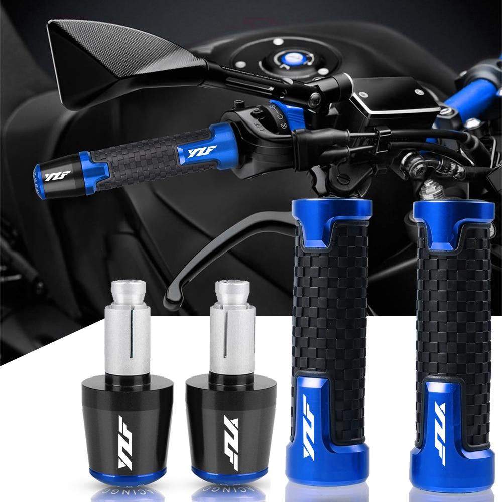 CNC 22 мм мотоциклетные ручки, ручки, крышка руля, заглушки, заглушки для Yamaha YZF R1 YZF R6 YZFR6 YZF R125 YZFR15 R25 YZF R3 YZF R25