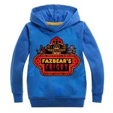 лучшая цена Five Nights at Freddy'sChildren's hoodie printed long sleeve hoodie for boys and girls sports hoodie pink