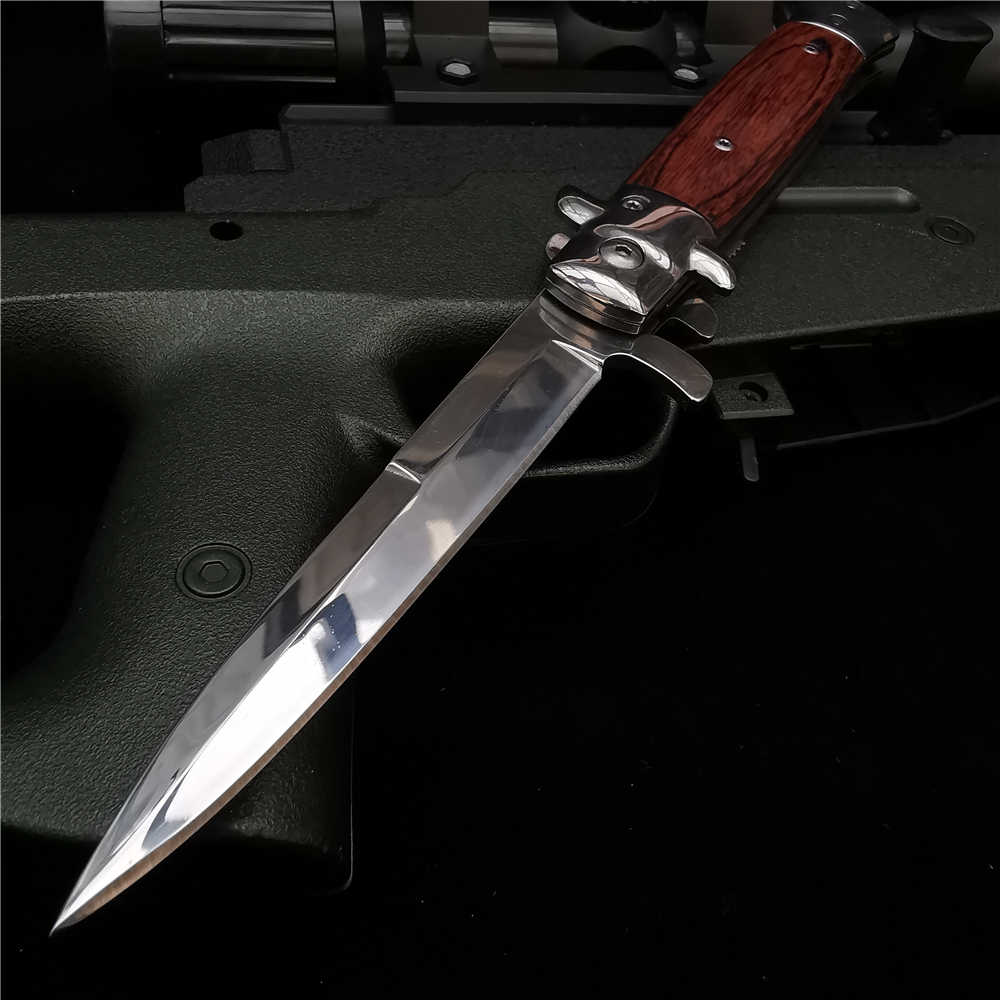 "225Mm (9 "") 58HRC Zakmes Pijp Cutter Zakmessen Multi Duiken Survival 8Cr18 Staal Blade Tactical Stiletto Outdoor Mes"