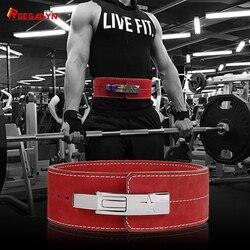 Кожаный ремень для занятий тяжелой атлетикой для фитнеса, мужской спортивный ремень с жесткой защитой, мужской ремень для тренировки бодиб...