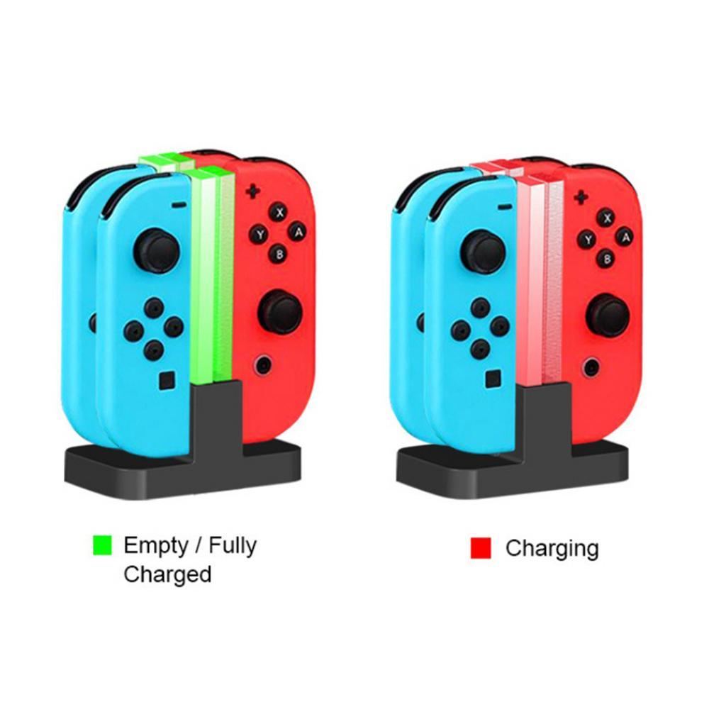 Светодиодный зарядная док-станция, зарядное устройство для Nintendo Switch 4, контроллеры Joy-Con 4 в 1, зарядная подставка для Nintendo Switch NS