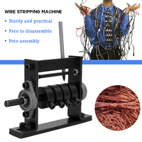 Manual Portable Wire Stripping Machine Scrap Cable Peeling Machines Stripper for 1 30mm Hand Tool Can Connect Hand Drill
