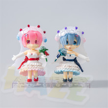 2pcs Re:Life In A Different World From Zero Rem Ram Wedding Dress Q Ver. Figure Model Toys In Box 1 4 scale re life in a different world from zero rem ram bunny ver kneeling ver resin naked collection anime figures