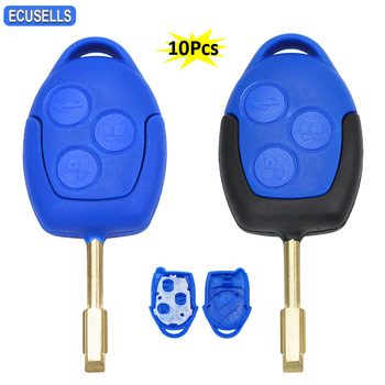 10 sztuk partia 3 przycisk zdalnego klucz samochodowy Shell Case dla Ford Transit WM VM 2006 #8211 2014 P N 6C1T15K601AG FO21 ostrze niebieski czarny głowy tanie i dobre opinie ecusells CN (pochodzenie) China Both Good 0 04kg