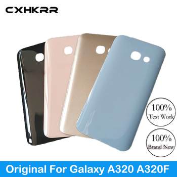 New original,For Samsung Galaxy A320F A320 Back Cover Battery Case Replacement 3D Glass Housing Cover For Samsung A3 2017 image