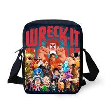 Модные женские сумки Ральф рисунком девушки креста тела сумки аниме мультфильм дизайн девушки мини-щитки кошелек сумки