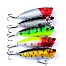 1 шт лидер продаж приманка Поппер 3d 5 цветов рыболовная снасть