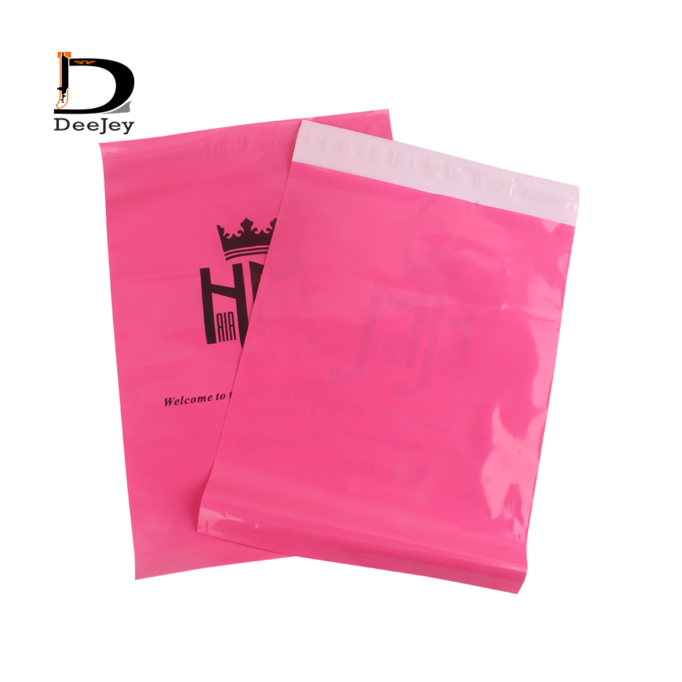 Custom logo printed mail polybag plastic mailing bags different size color option self adhesive package shipping bag 100pc lot(China)