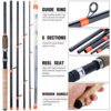 Sougayilang New Feeder Fishing Rod Lengthened Handle 6 Sections Fishing Rod L M H Power Carbon Fiber Travel Rod Fishing Tackle 4