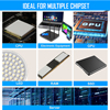 Zezzio Thermal Pad conductivity 12.8W/MK for CPU GPU Motherboard Mining RAM Multifunction Thermal conductive silicone pad 6