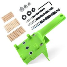 Positioning-Tools Woodworking Jig with Metal Dowel-Pins Drill-Bits Saw-Kit 6-10mm