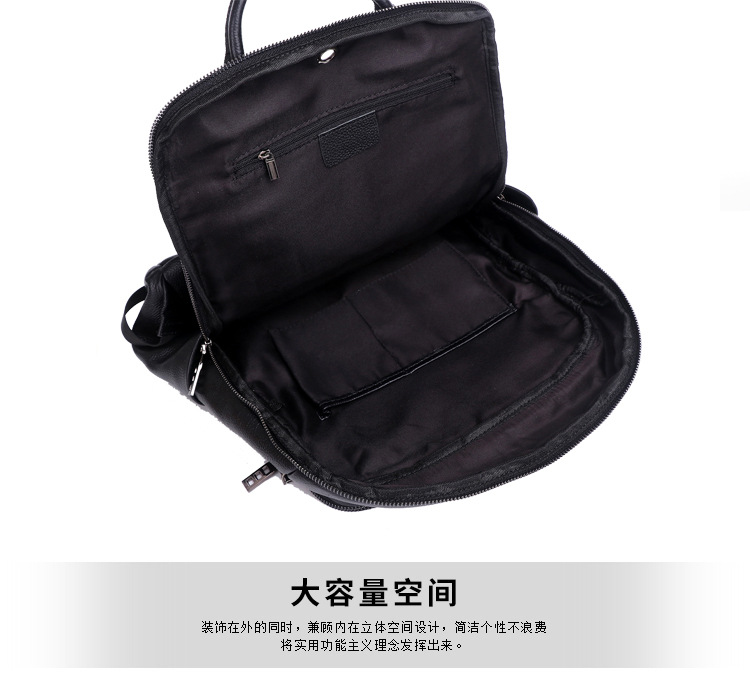 Nova mochila masculina couro couro couro couro