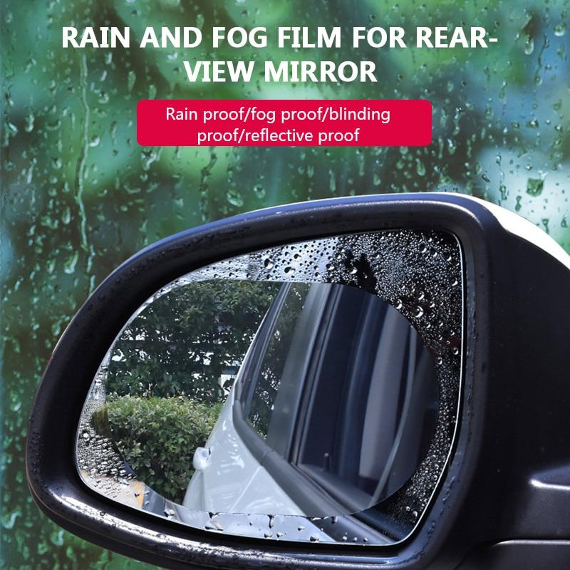 2PCS Anti-fog Car Mirror Window Clear Film Anti Car Rearview Mirror Protective Film Waterproof Rainproof Car Sticker 2020 New