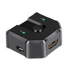 2 In 1 Out Plug And Play interruttore di condivisione stabile universale Splitter Office 3D 4K selettore Full HD professionale bidirezionale