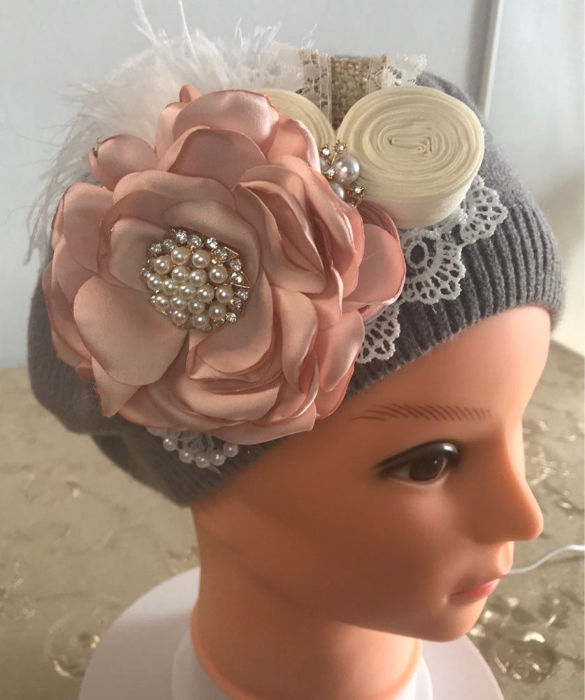 4PCS Vintage Flower Baby Girl Headband Rhinestone With Feather Hairband For Kids Photo Props Hair Accessories Kidocheese