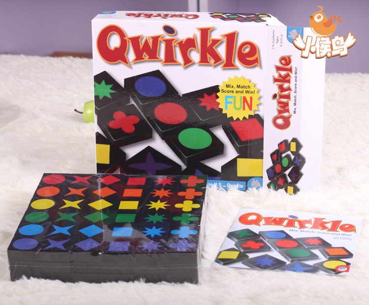 Qwirkle Mix Match Score And Win! Kids Educational Toys Chess Desktop Games, Assembly Wooden Toy Qwirkle Adult Intelligence Games