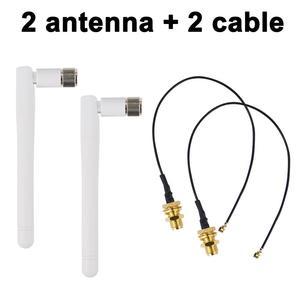 Image 4 - Antena pçs/lote macho sem fio 2 2.4ghz 3dbi, wi fi 2.4g roteador wireless RP SMA macho + 17cm pci u. cabo de pigmento macho fl ipx para rp sma