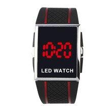 New Fashion Men Led Digital Watches Electronic Watch Women Sports Rectangle dames horloge reloj hombre