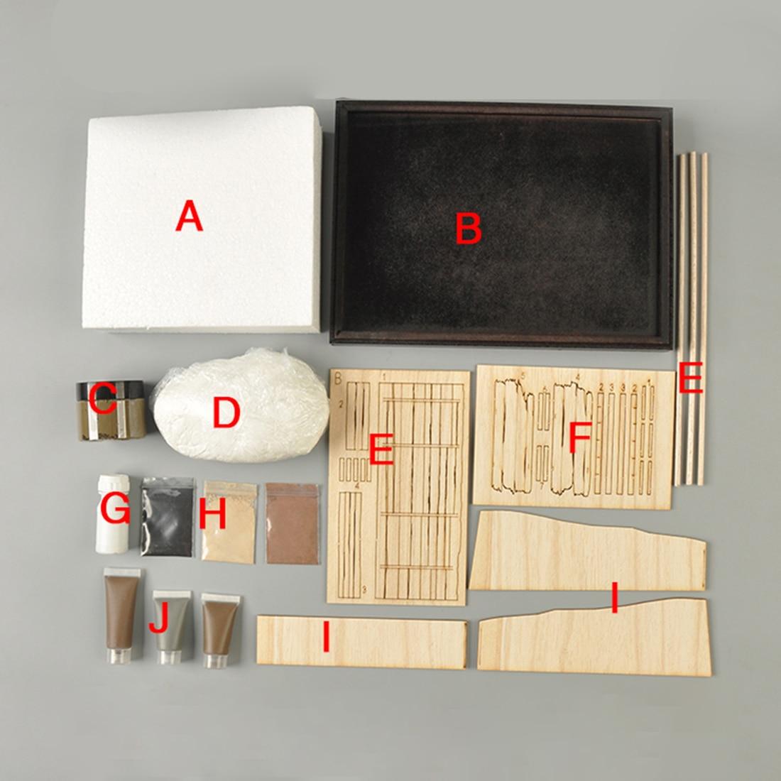 1/35 25 X 18cm DIY Military Sand Table Construction Model Trench Scene Platform Kits 2 Types