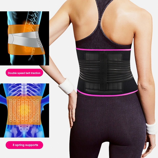New Waist Belt Adjustable Compression Sweating Slimming Wrap Trainer Exercise Fitness Sportswear Accessories 1