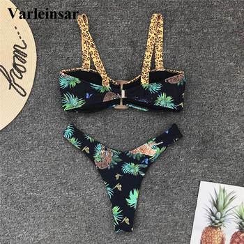 2020 NEW Sexy Printed Bikini Women Swimwear Female Swimsuit Two-pieces Bikini set High Cut Bather Bathing Suit Swim Wear V1792 4