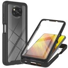 Poco X3 NFC Stoßfest Fall Mi Poco M3 Kristall Fall für Xiaomi Pocophone X3 X 3 NFC Zurück Abdeckung Mi poco X3 NFC M3 Stoßstange Fundas