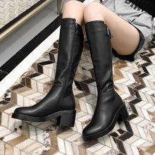 Plus Size 34-43 knee High Boots Over The Knee Women Boots Soft Genuine Leather Zipper Women Boots Thigh High Winter Warm Shoes цены онлайн