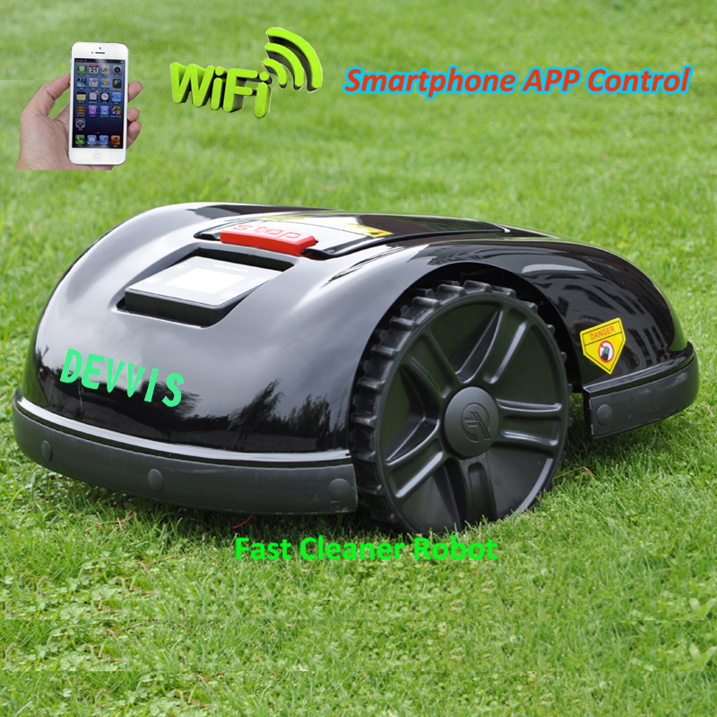 Tools : Newest 5th Gerneration DEVVIS Smartphone APP Robot Lawn Mower E1600T With 13 2ah Lithium Battery GYROSCOPE Navigation Function
