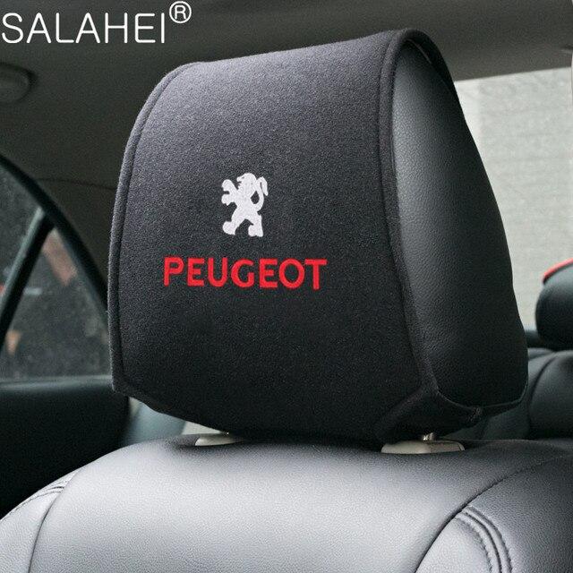 Reposacabezas de coche cubierta cabeza descanso del cuello cojín para asiento cubre para Peugeot GT 207, 307, 407, 507, 508, 408, 308, 206, 406, 5008, 3008 deporte