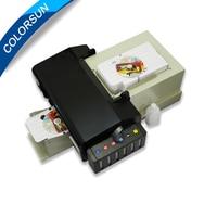 Colorsun High quality automatic pvc id card printer plus 50pcs pvc tray for pvc card printing on hot sales